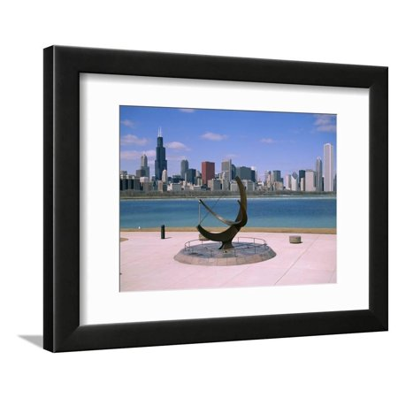 City Skyline and Lake Michigan from the Adler Planetarium, Chicago, Illinois, North America Framed Print Wall Art By Jenny Pate Oregon Pate Board