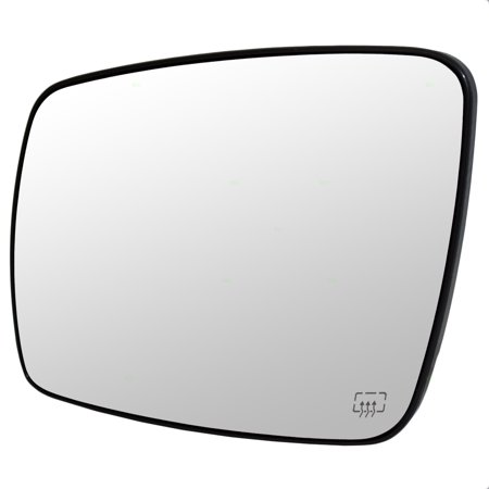 - Drivers Side View Mirror Glass with Base Heated Replacement for Dodge Journey 68045693AA CH1323393