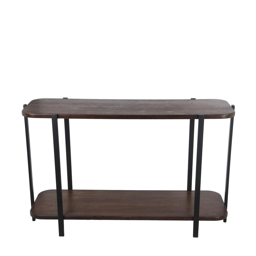 Privilege International Wood And Metal Transitional Console Table