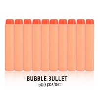 Ymiko 500/1000/2000pcs Refill Foam Bullet Soft Darts for Elite Series Blasters Children Kids Toy, Foam Bullet Soft Darts