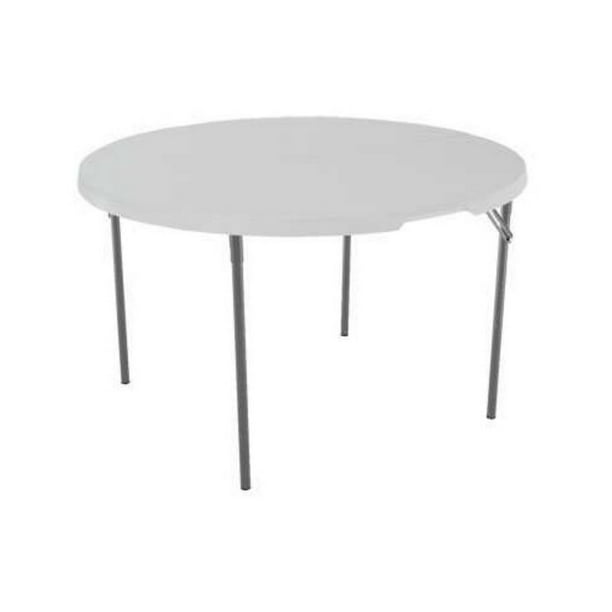 Lifetime 48 Round Fold In Half Table, Fold In Half Round Table
