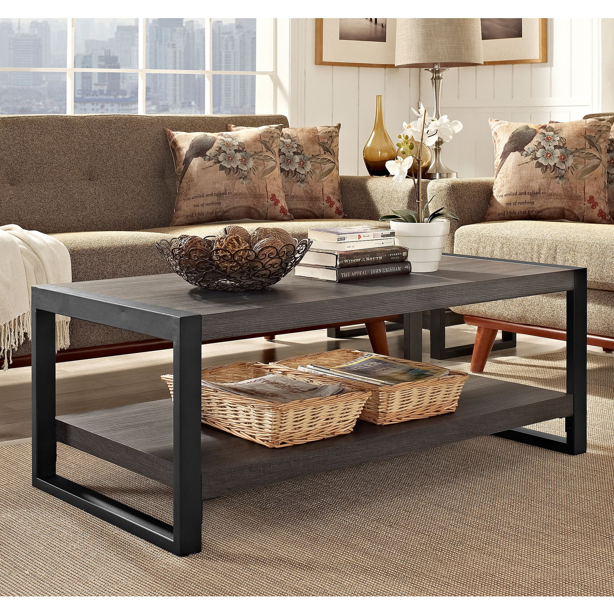 "apartment ah city grove 48"" coffee table - walmart"