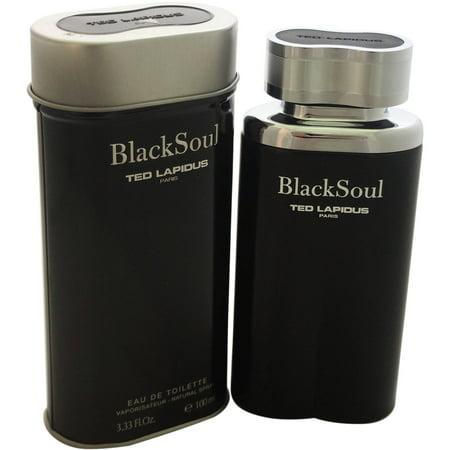 Ted Lapidus Black Soul for Men Eau de Toilette Spray, 3.4 oz