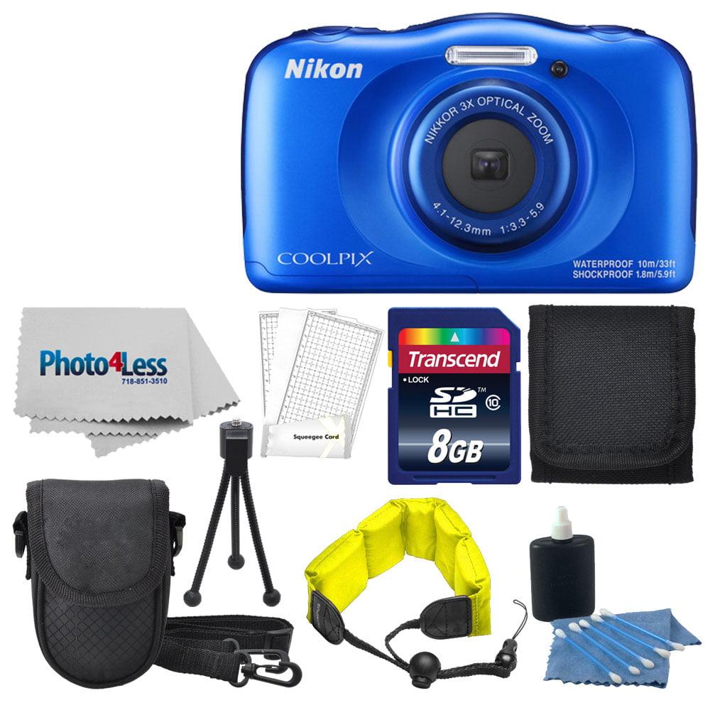 Nikon COOLPIX W100 13.2 MP Waterproof Digital Camera (Pink) + Top Value Bundle!