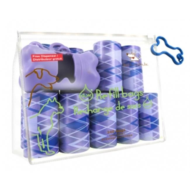 Best Pet Supplies AGP-2401 Argyle Purple - 16Rolls-Bag