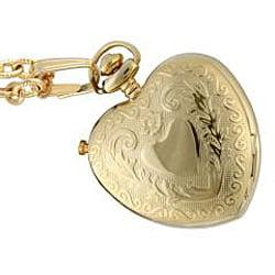 Women's Goldtone Heart Locket Valentine Watch Peugeot Pendant Shaped xrWdCBeo