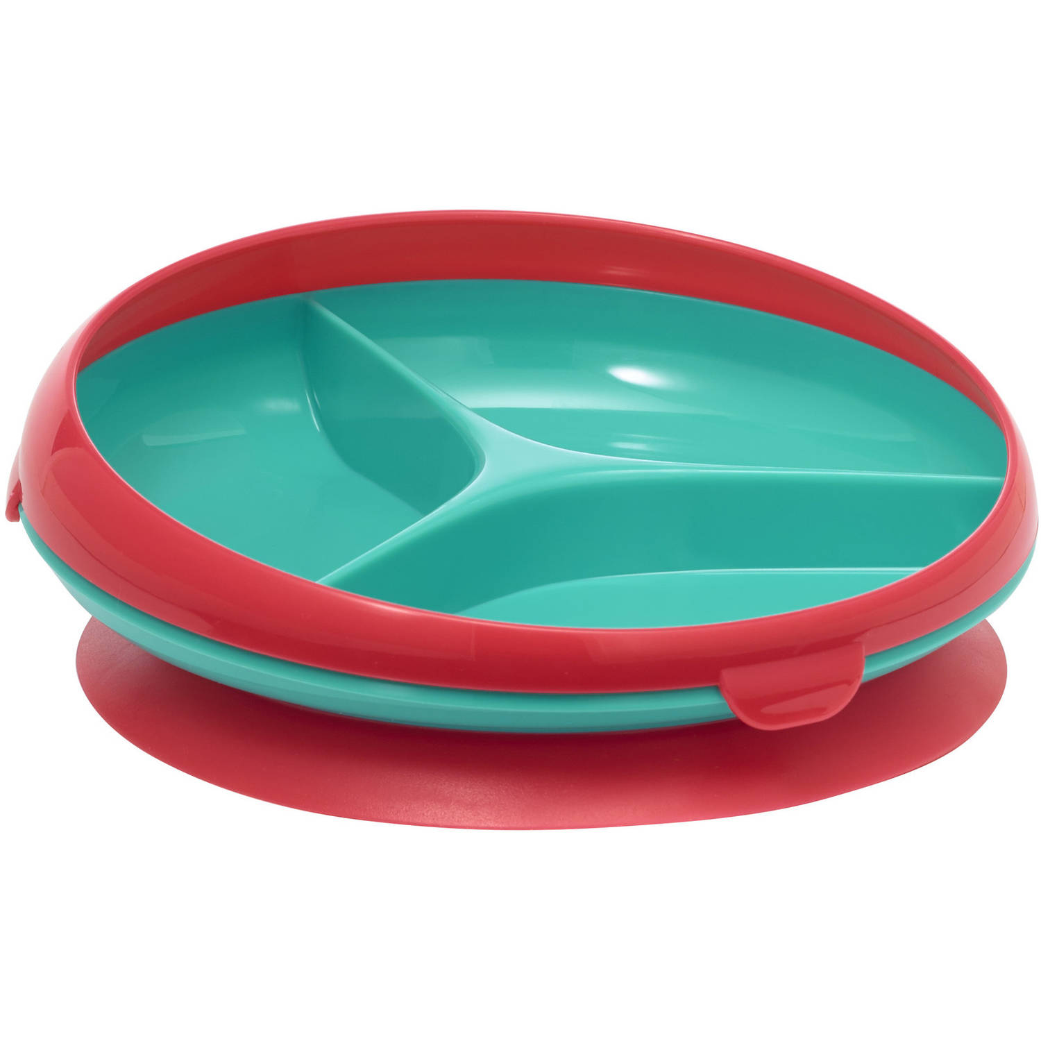 The First Years Inside Scoop Suction Sectioned Plate 1-Pack, Green/Blue