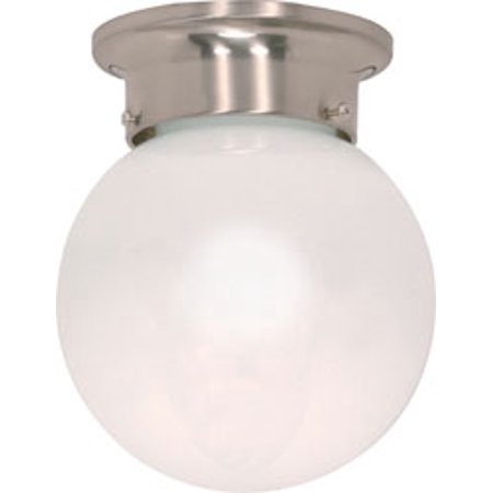 Ceiling Mounted Disco Ball (Replacement for 60/245 1 LIGHT 6 INCH CEILING MOUNT WHITE BALL BRUSHED NICKEL)