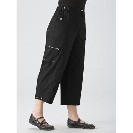 bbcb8c5f413e1 Ulla Popken Women s Plus Size Straight Stretch Cropped Cargo Pants ...