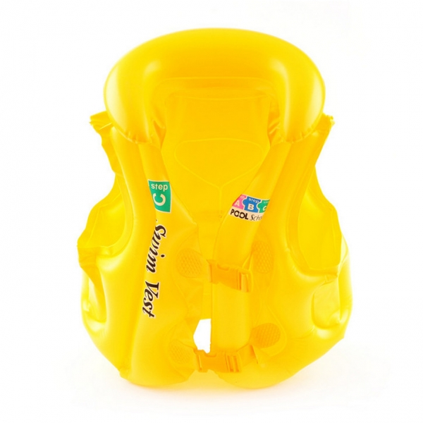 Infant Baby Inflatable Life Vest Safety Life Jacket L Yellow by