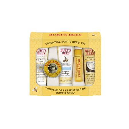 Hms Victory Gift Set - Burt's Bees Essential Everyday Beauty Gift Set, 5 Travel Size Products - Deep Cleansing Cream, Hand Salve, Body Lotion, Foot Cream and Lip Balm