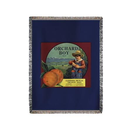 Orchard Boy Brand - Glendora, California - Citrus Crate Label (60x80 Woven Chenille Yarn Blanket)](Halloween Glendora)