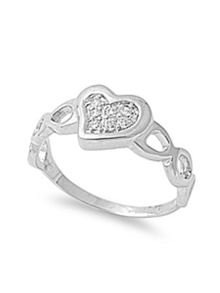 925 Sterling Silver Classy Cut-Out Cross Band Ring Size 6-9