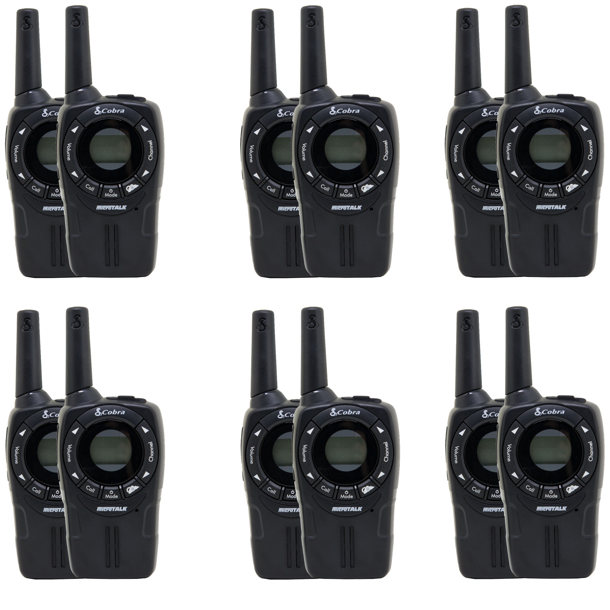 Cobra CXT235 MicroTalk 20 Mi FRS/GMRS 22 Channel 2 Way Walkie Talkie (12 Radios)