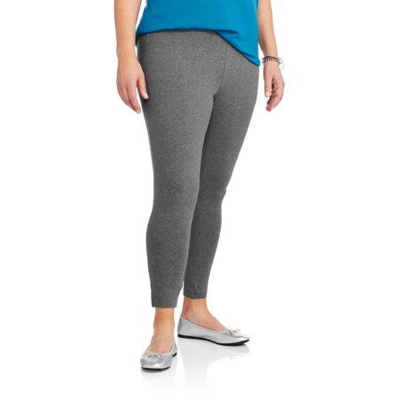 4a3250a764e9c Faded Glory - Women's Plus-Size Essential Knit Leggings - Walmart.com