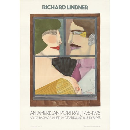 Richard Lindner An American Portrait 1976 Mourlot Lithograph