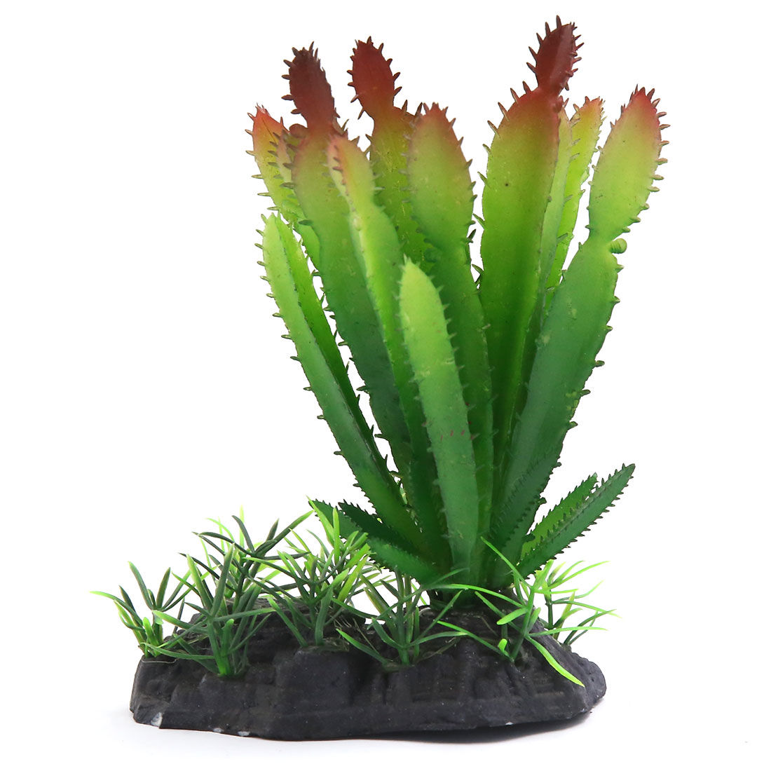 Aqua Landscape Aquarium Decoration Plastic Plant Green Red for Goldfish