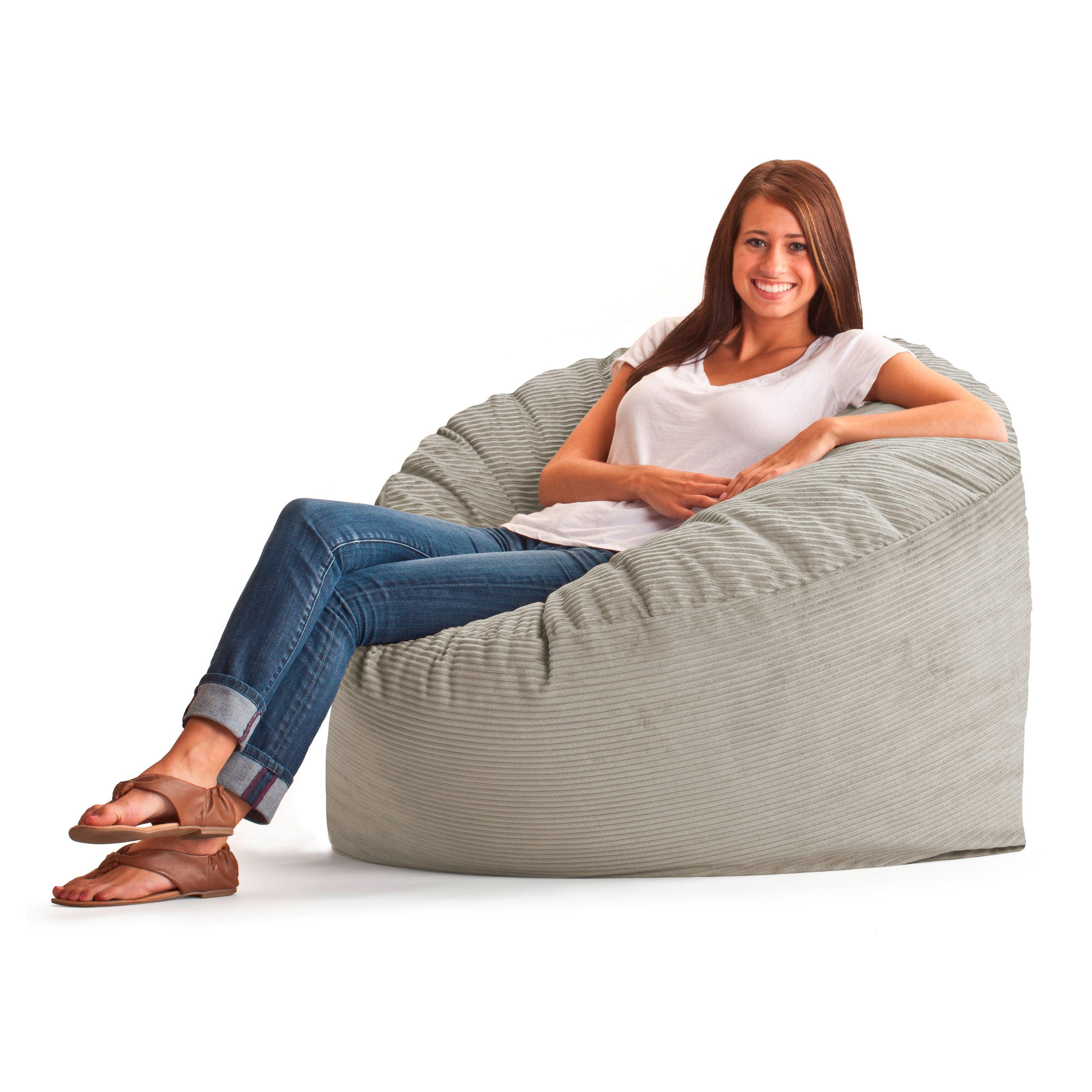 Original FUF Chair 3 Ft. Wide Wale Corduroy Bean Bag Lounger   Beach    Walmart.com