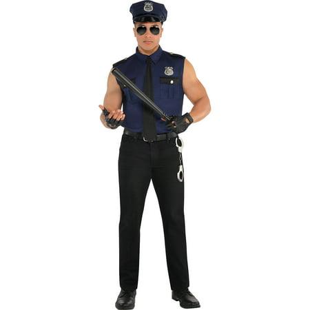 amscan Adult Under Arrest Cop Costume - Medium (40-42)](Cardiac Arrest Costume)