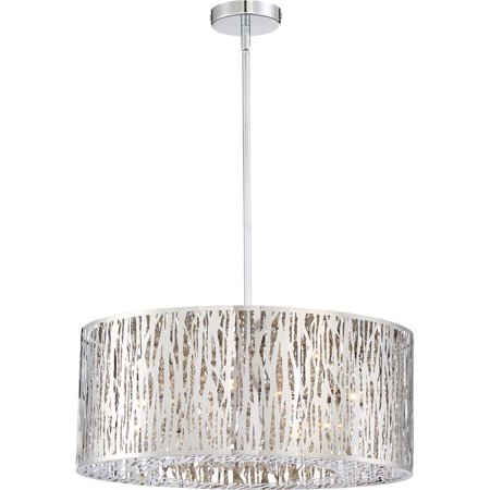 (Quoizel Platinum Grotto 8 Light Pendant in Polished Chrome)