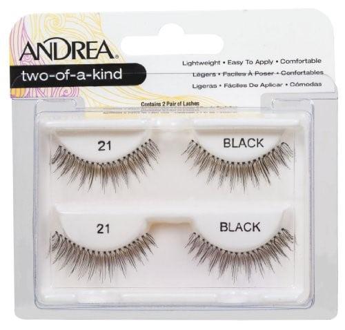 Andrea Twin Pack False Eyelashes, Style 21, Black, 2 Ct