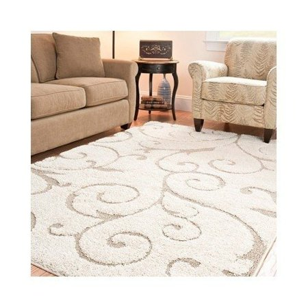 Ultimate Soft Cushioned Cream Beige Ivory Area Rug 5 3 X 7 6 On Now Bring Elegance Into Your Living Room Dining Or Bedroom With