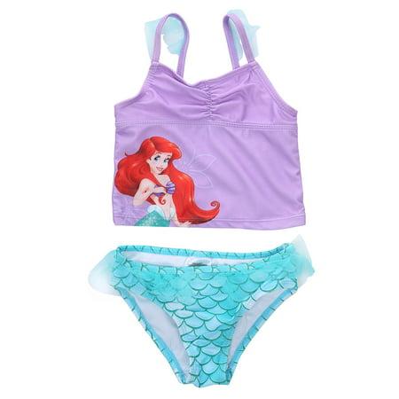 Cute Girls Bikinis (2PCS Summer Kids Little Baby Girl Cute Cartoon Swimwear Swimsuit Tankini Top+Shorts Bikini Set Mermaid Swimming Costume Bathing Suit 2-3 Years)