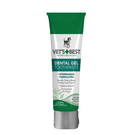 Vet's Best Enzymatic Dog Toothpaste | Teeth Cleaning and Fresh Breath Dental Care Gel | Vet Formulated | 3.5 (Breath Teeth)