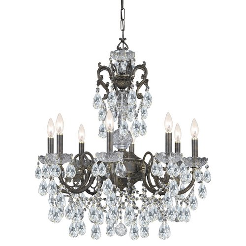 Crystorama Legacy - Six Light Chandelier, Clear Swarovski Spectra Crystal