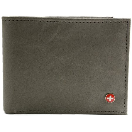 Murphy Compact Wallet - Alpine Swiss Mens Leather Wallet Multi Card Flip ID High Capacity Compact Bifold