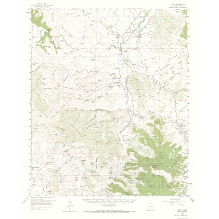 Cliff On A Topographic Map.Topographic Map Cliff New Mexico Quad Usgs 1959 23 X 28 26