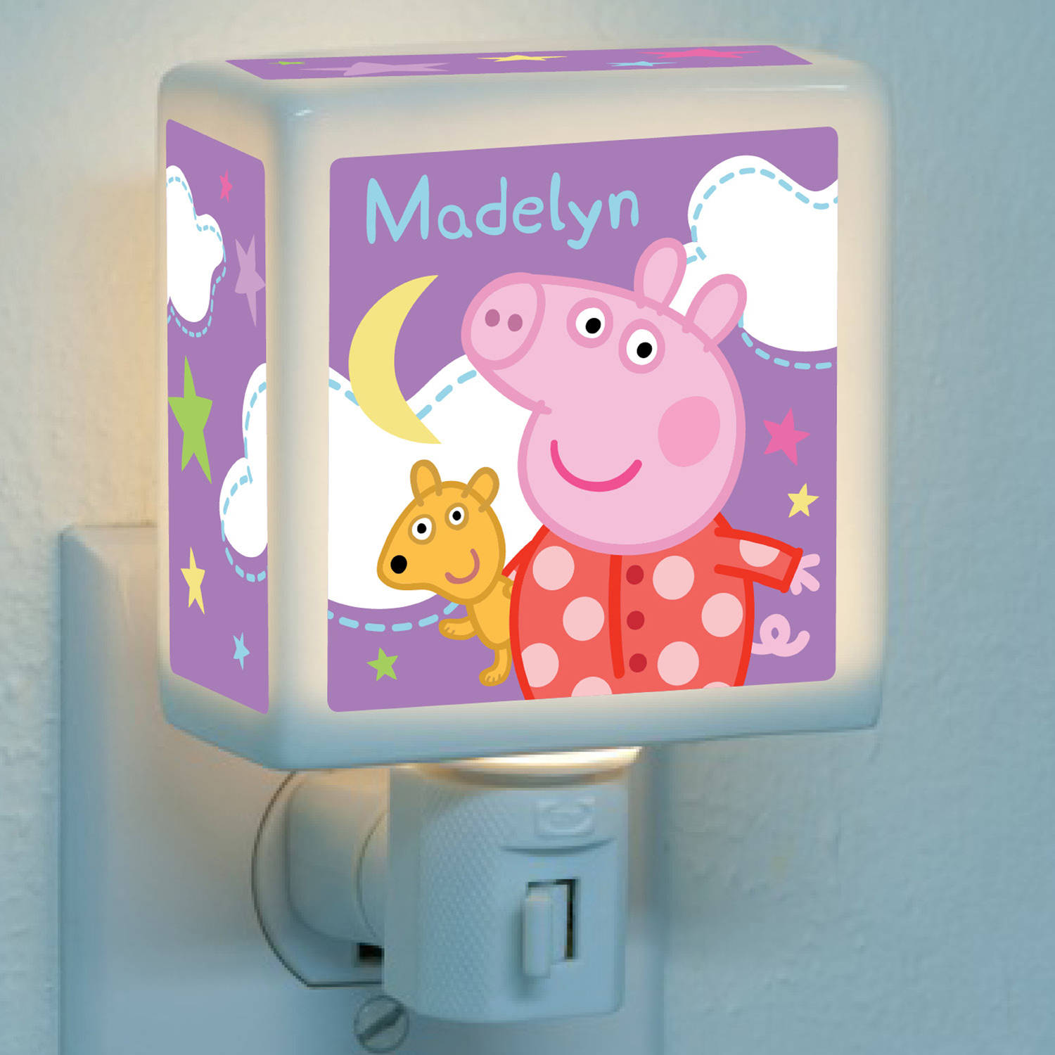 Personalized Peppa Pig Starry Nightlight