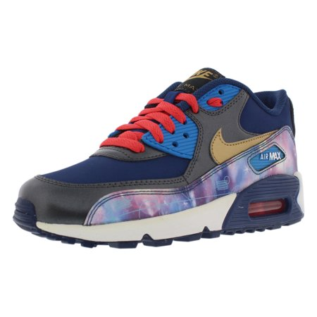 new product 510a7 65ba8 Nike Air Max 90 Premium Ltr Running Gradeschool Kids Shoes S