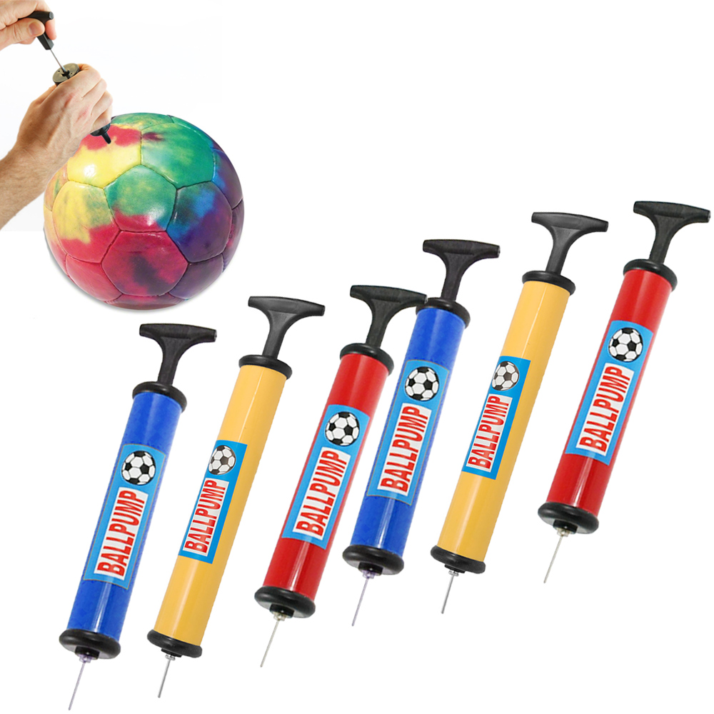 6 Ball Pump Handheld Air Inflator Needle Basketball Soccer Volleyball Balloon
