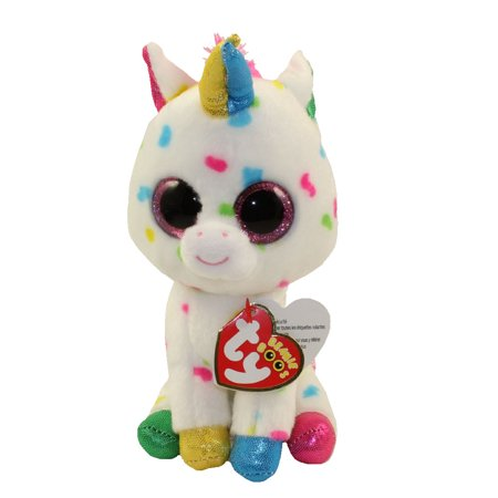 TY Beanie Boos - HARMOINE the Unicorn (Glitter Eyes) (Regular Size - 6 in) (Beanie Boo Party Supplies)