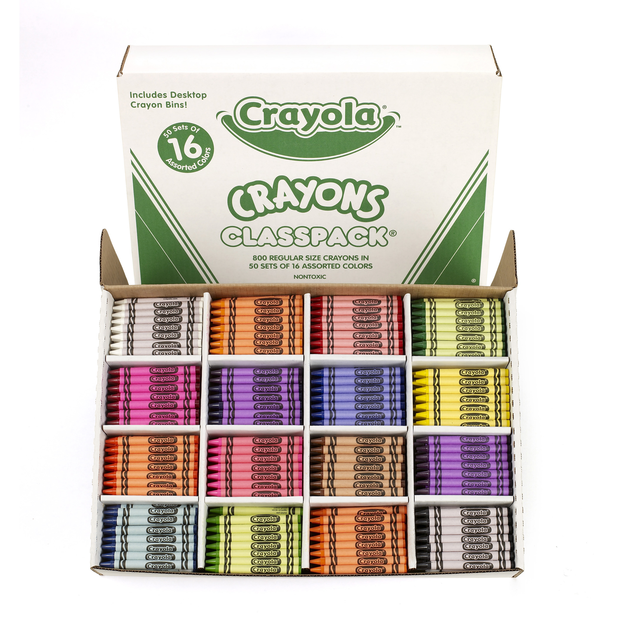 Crayola Crayon Classpack, 16 Colors, Pack of 800