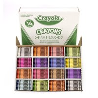 Crayola Crayon Classpack, 16 Colors, Pack Of 800