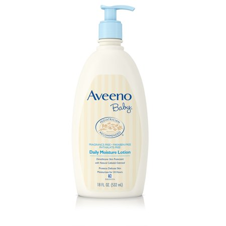 Aveeno Baby Daily Moisture Lotion with Natural Colloidal Oatmeal, 18 fl. oz