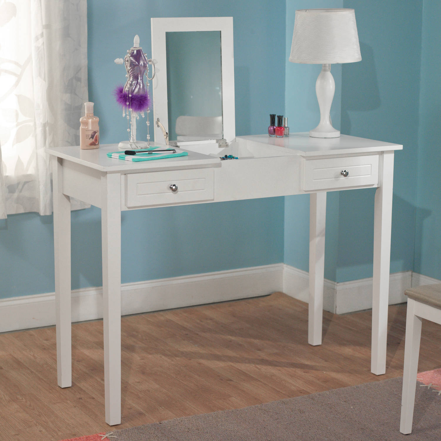 Aubrey Vanity Desk, Multiple Colors