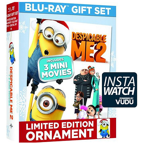 Despicable Me 2 (Limited Edition) (Blu-ray   DVD   Digital HD   Carl Minion Ornament) (With INSTAWATCH) (Widescreen)