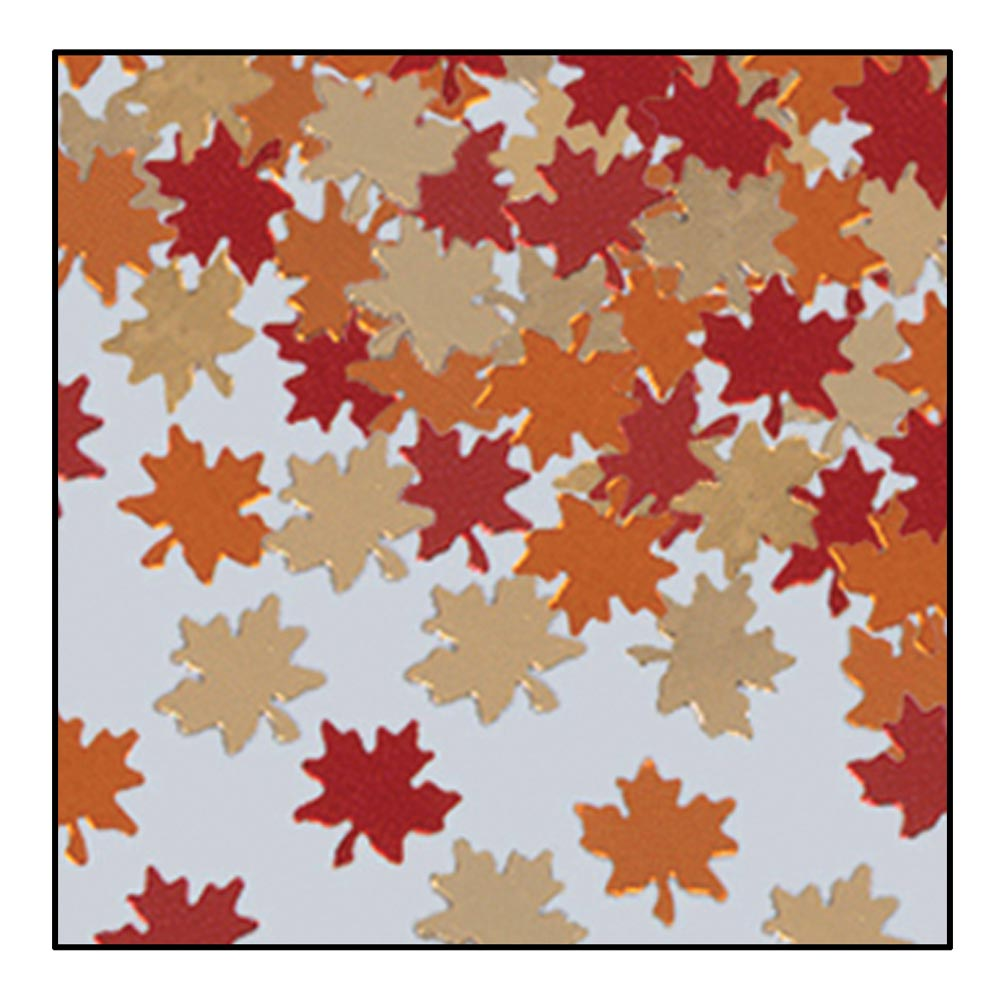 Beistle - 90630 - Fanci-Fetti - Autumn Leaves- Pack of 12