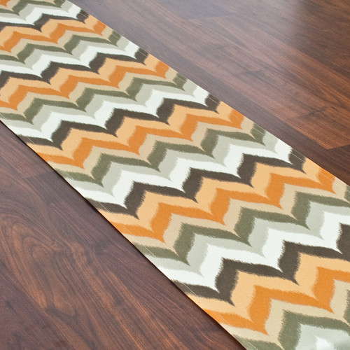 Brite Ideas Living Gant Paramount Copperstone Hemmed Table Runner