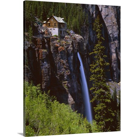 Great Big Canvas David L  Brown Premium Thick Wrap Canvas Entitled Old Power Station And Bridal Veil Falls