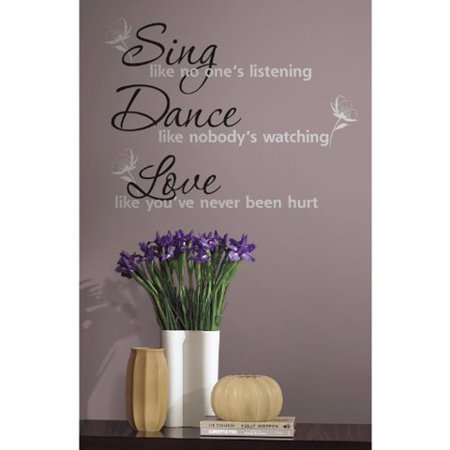 RoomMates Peel and Stick Decor Wall Decals. Sing, Dance and Love. 16 Pieces