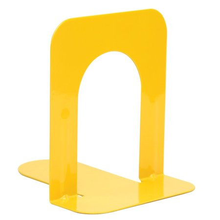 - Steel Bookends - Plain base-Yellow 5