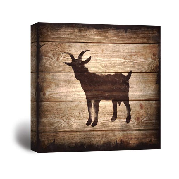 Wall26 Square Canvas Wall Art Goat Silhouette On Rustic Wood Board Texture Background Giclee Print Gallery Wrap Modern Home Decor Ready To Hang 24x24 Inches Walmart Com Walmart Com 300+ vectors, stock photos & psd files. walmart com
