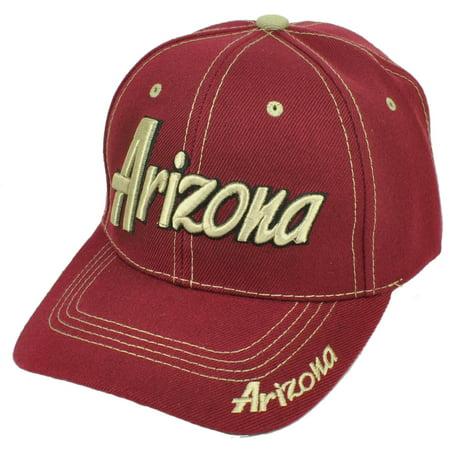 Arizona Grand Canyon State Burgundy USA AZ Adjustable Hat Cap Curved Bill US](Spirit Store Az)