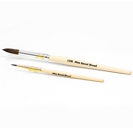 Mia Secret Duo Acrylic 2 Brush Set #10 Round Nail 10R NB16 ()