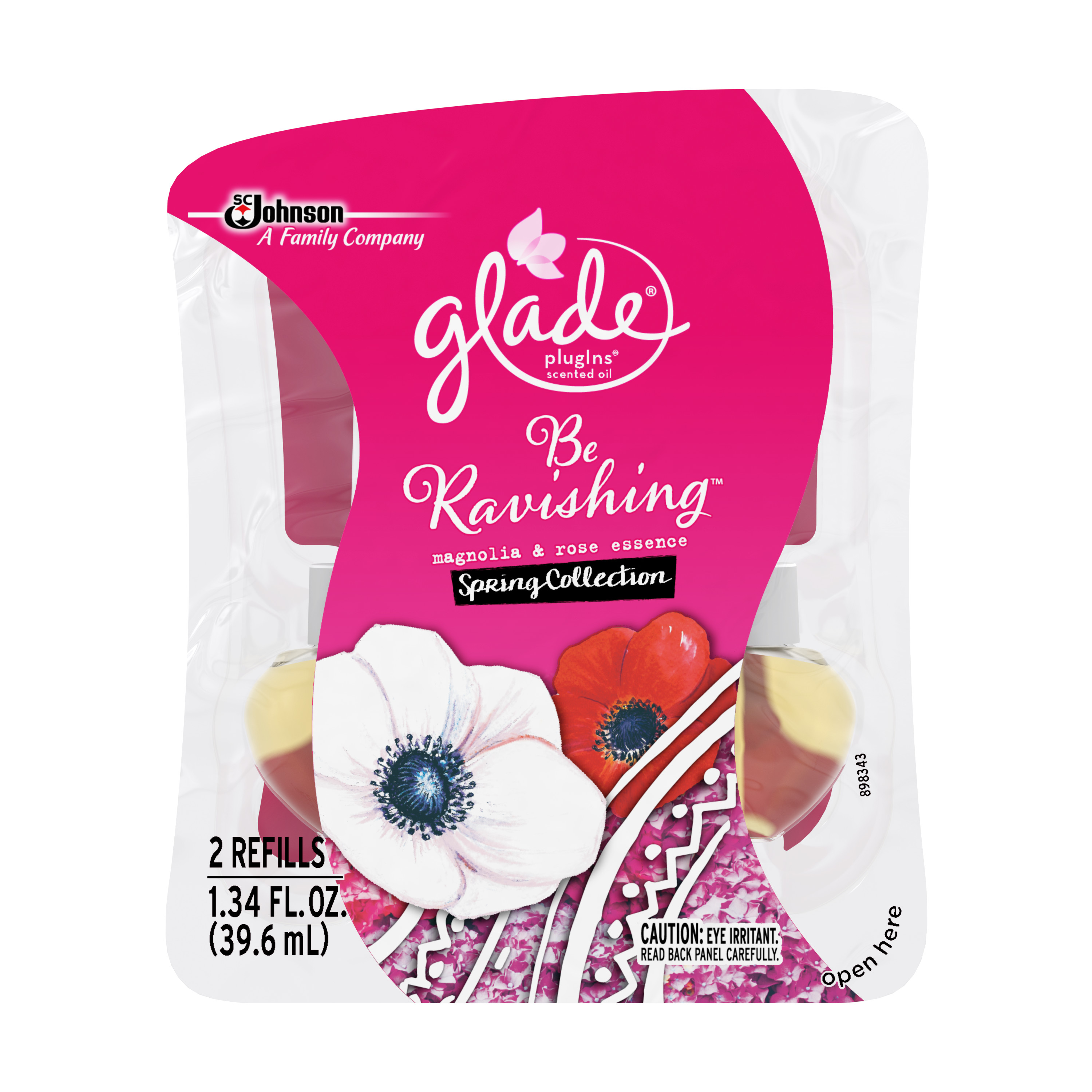 Glade PlugIns Scented Oil Air Freshener Refill, Be Ravishing, 2 count, 1.34 Fluid Ounces