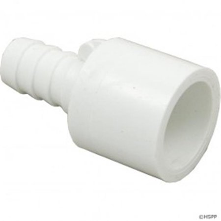 Waterway Plastics 425-0210 PVC Ribbed Barb Adapter, 0.37 in. RB x 0.5 in. Spigot